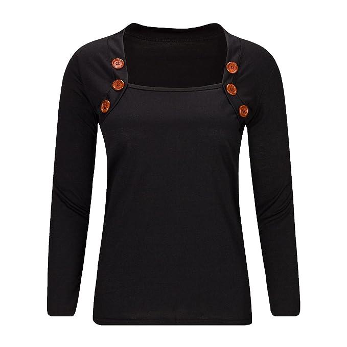 Beauty7 36 Camisas Mujeres Atada a la Cintura Mangas Larga Cuello Bajo Vestido Verano Primavera Blusas