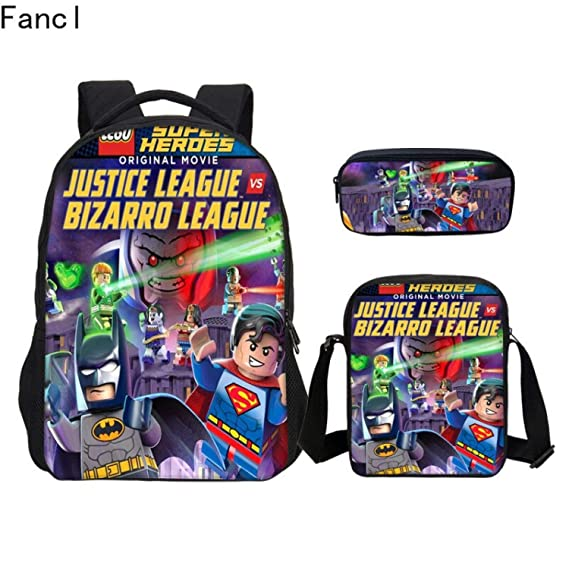 Amazon.com: 2019 3 Pcs Set Cartoon School Backpacks Shoulder ...