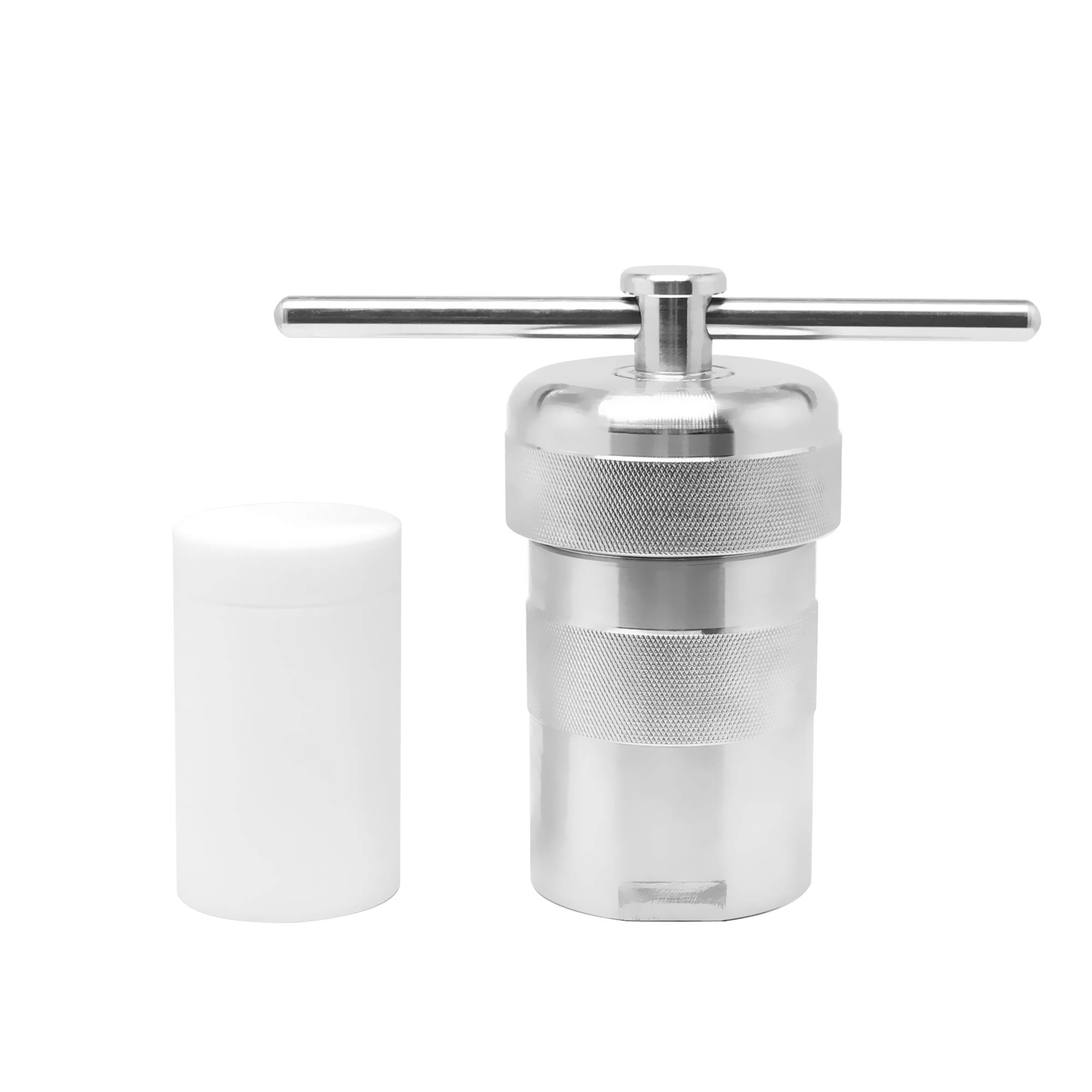 BAOSHISHAN 100ml Hydrothermal Synthesis Autoclave Reactor 6Mpa 240C with Pressure Relief Hole and 7mm Thickening PTFE Lining Acid and Alkali Resistance by BAOSHISHAN (Image #1)