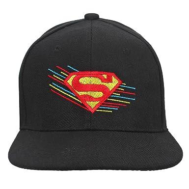 684abf612ee Eccellente Hip Hop caps for Men Women Boys   Girls Superman Full Black   Amazon.in  Clothing   Accessories