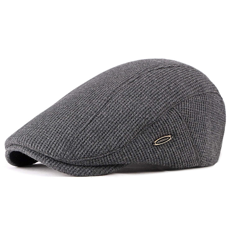 2019 Mens Newsboy Caps Knitting Plus Velvet Beret Hats for Men Autumn Winter Flat Dad Hat