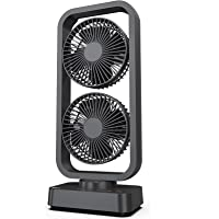 OPOLAR Portable Battery Operated Desk Fan with Superpower Battery (10000mAh), Cordless Rechargeable USB Camping Fan with…
