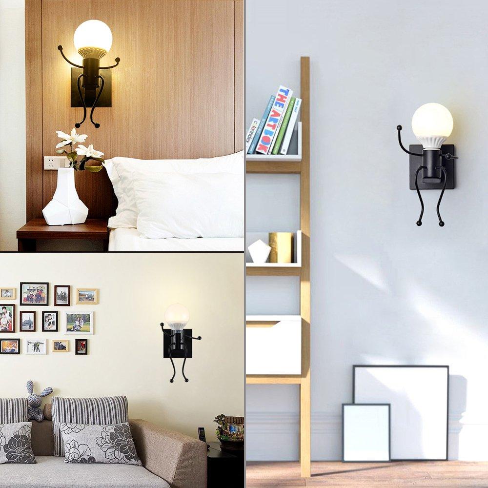 Kinderzimmer Wandleuchte Wandlampe modern Design Wandbeleuchtung Eisen f/ür Bar Flur