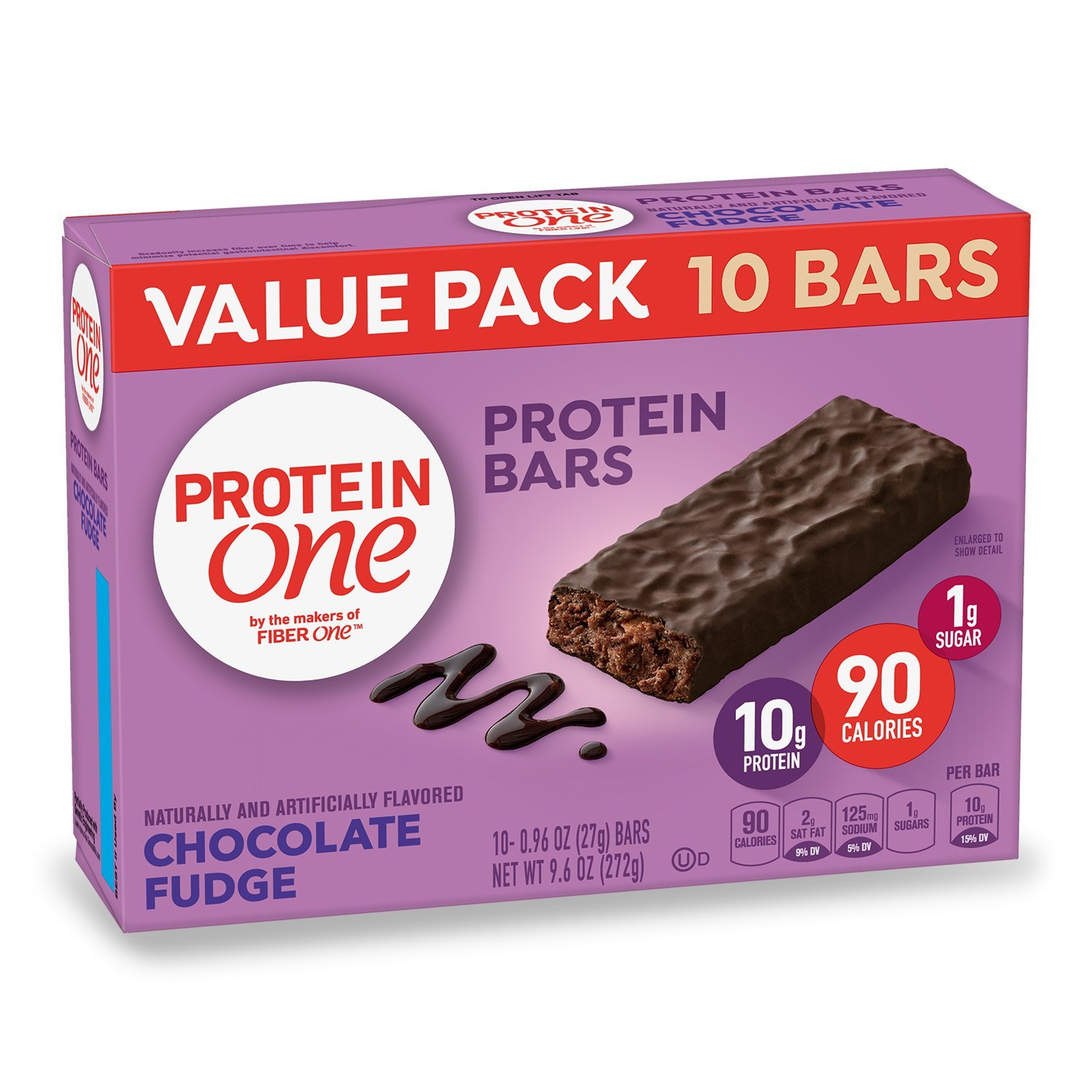 Protein One 90 Calorie Protein Bar, Chocolate Fudge, 9.6 oz(us)