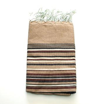 Ibiza marrón 2 – 100% algodón zusenzomer – toalla, 100 cm x 200 cm