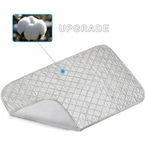 Ironing Mat, Portable Travel Ironing Blanket, Thickened Heat Resistant Ironing Pad Cover for Washer, Dryer, Table Top, Countertop, Small Ironing Board(19×33 inches