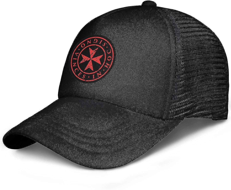 BertonMonroe Angel Knights Templar Circle Logo Casual Adjustable Baseball Caps Youth Trucker Cap