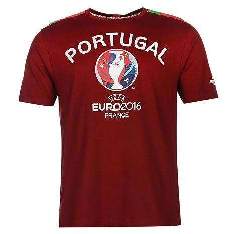 UEFA Euro 2016 Portugal Graphic Camiseta de Manga Corta para Hombre ...