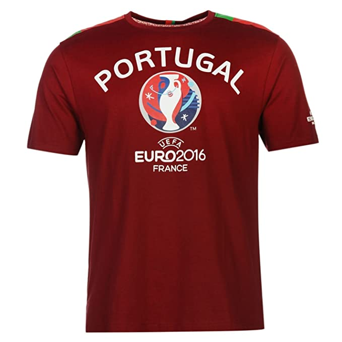 UEFA EURO 2016 Portugal Graphic camiseta de manga corta para hombre granate de fútbol camiseta de manga corta Talla:large: Amazon.es: Deportes y aire libre