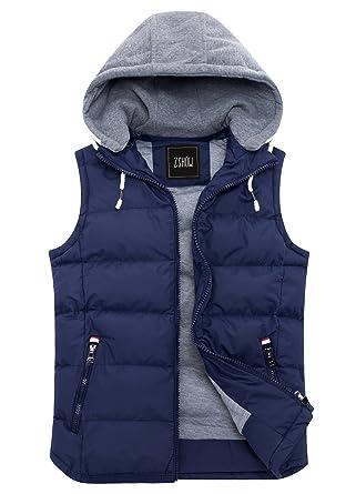 e13d1ca86ea3b ZSHOW Women s Winter Padded Vest Removable Hooded Outwear Jacket US 8 Navy