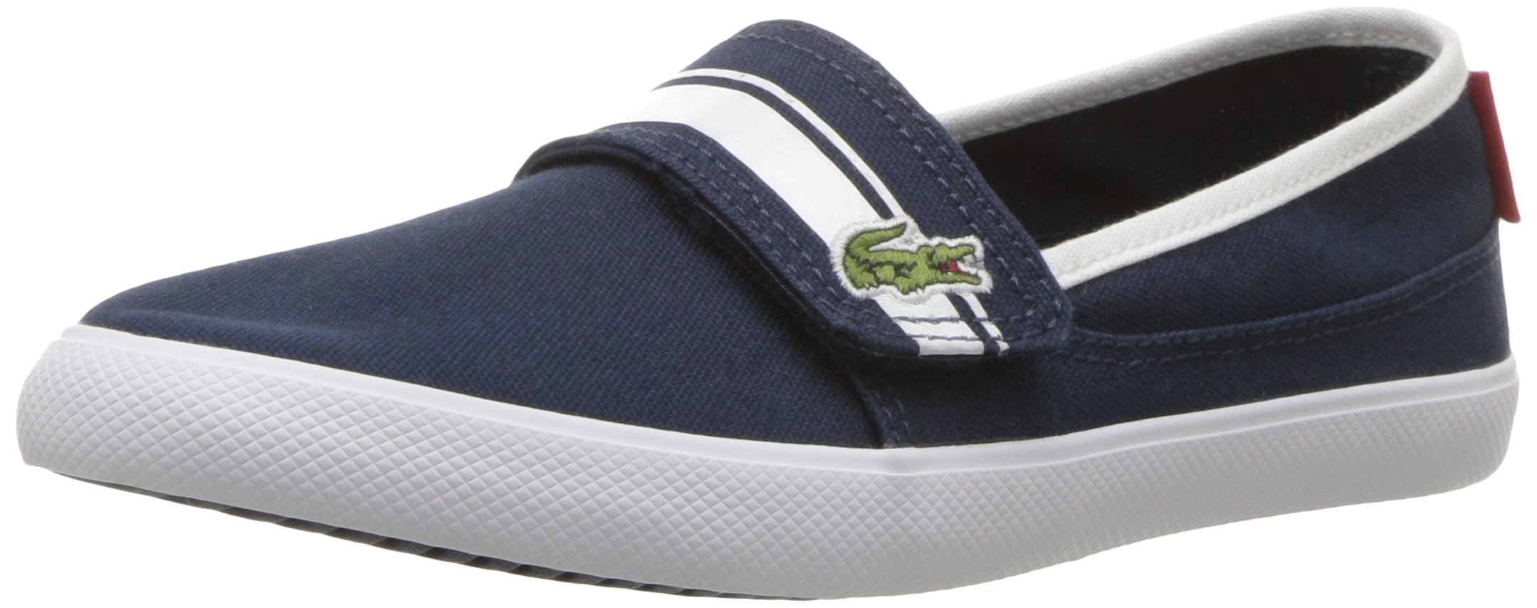 Lacoste Kids' Marice Slip-ONS,Navy/White Cotton Canvas,13. M US Little Kid