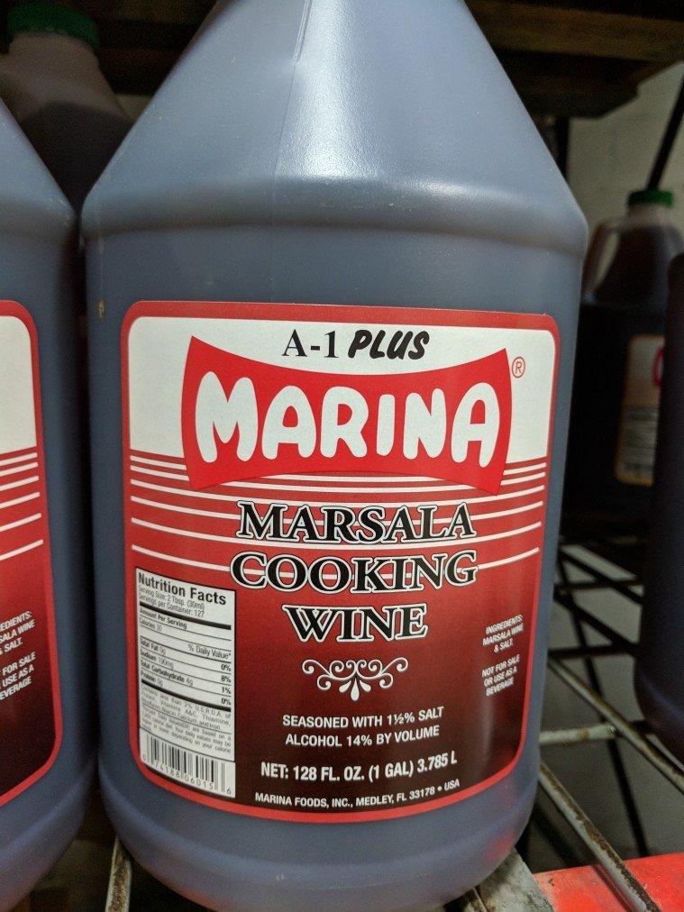 Marina Marsala Cooking Wine 1 Gal (2 Pack)