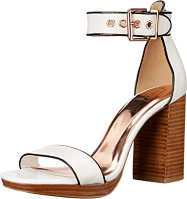 d72a02fc922c Ted Baker Women s Lorno White Leather Sandal  Amazon.co.uk  Shoes   Bags
