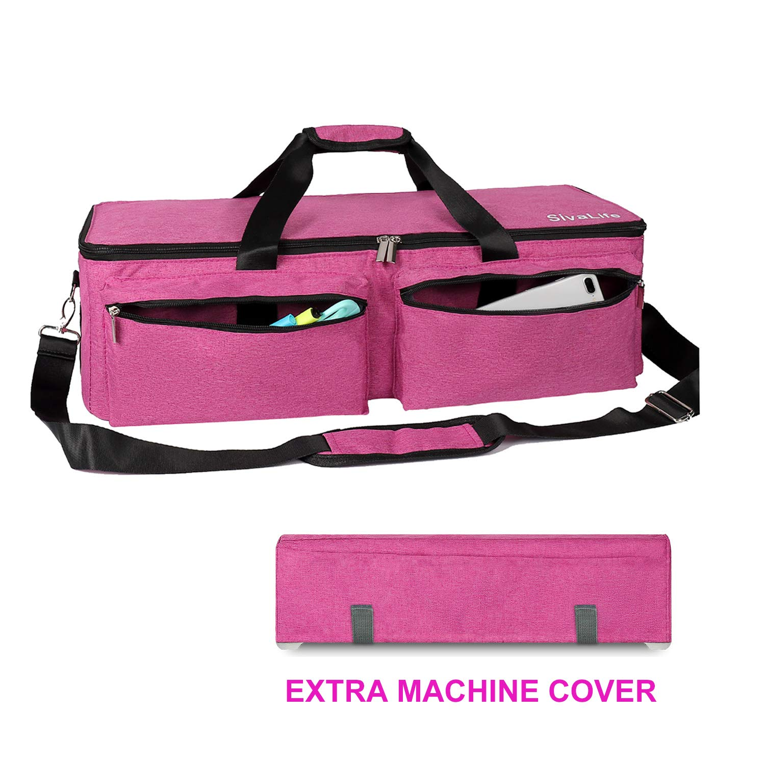 SivaLife Carrying Bag Compatible with Cricut Explore Air and Maker, Durable Tote Bag Compatible with Cricut Explore Air, Silhouette Cameo 3 and Supplies (Pink)