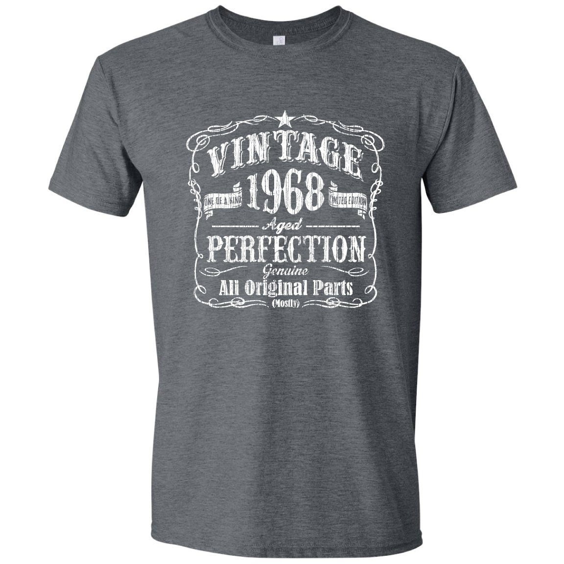 Feisty and Fabulous Vintage 1968 Birthday Shirt, 50th Bday, Grandfather Gift, Black, Large