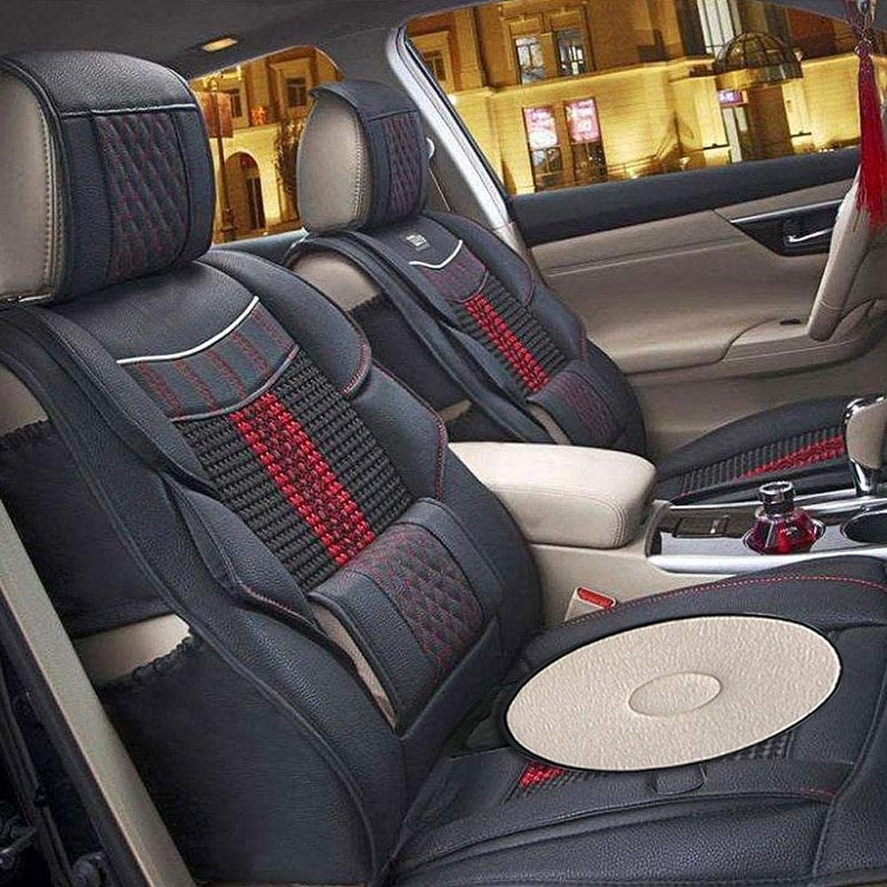 Cm 5 Color,40 Diameter MOGOI Car Rotating Seat Swivel Car Cushion Non-Slip Auto Car Mat Round Disc 360 Rotary Chair Pads Breathable Base Revolving Washable Lightweight Flexible Thin Mobility Aid