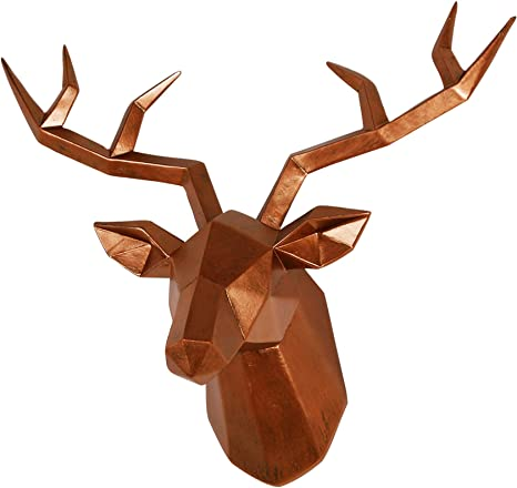 Antique French Deer FRENCH Deco Deer Sculpture Metal Deer Chrome Deer Copper Woodlands