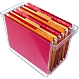 "Clear Plastic Hanging File Organizer - holds 8.5"" x 11"" hanging file folders"
