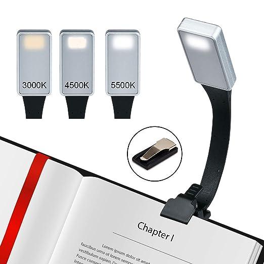 Lámpara de Lectura Libro Luz led Clip Luz de lectura 3 modos de ...