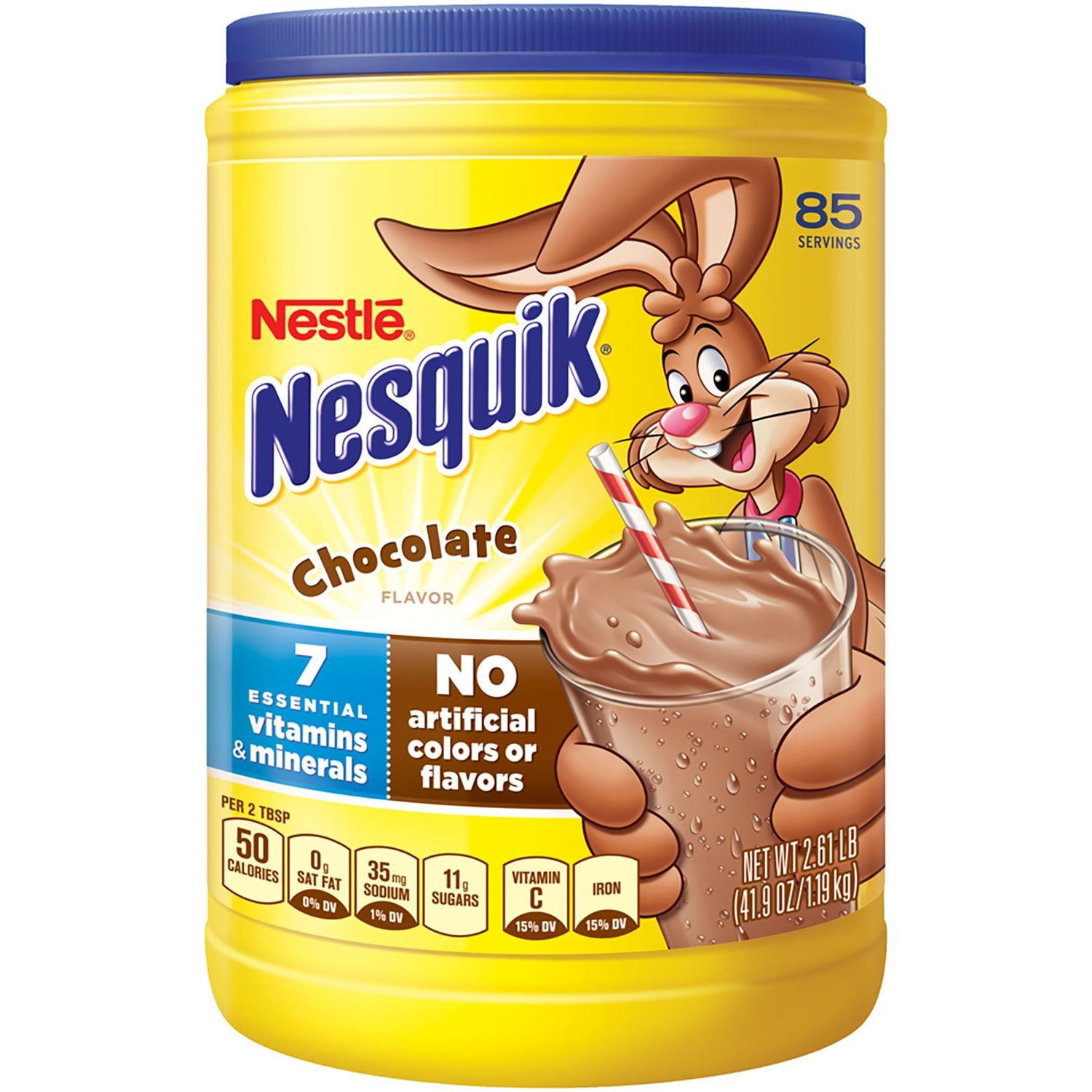 Nestle Nesquik Chocolate-Flavored Powder 2.61 lb. (pack of 4) A1