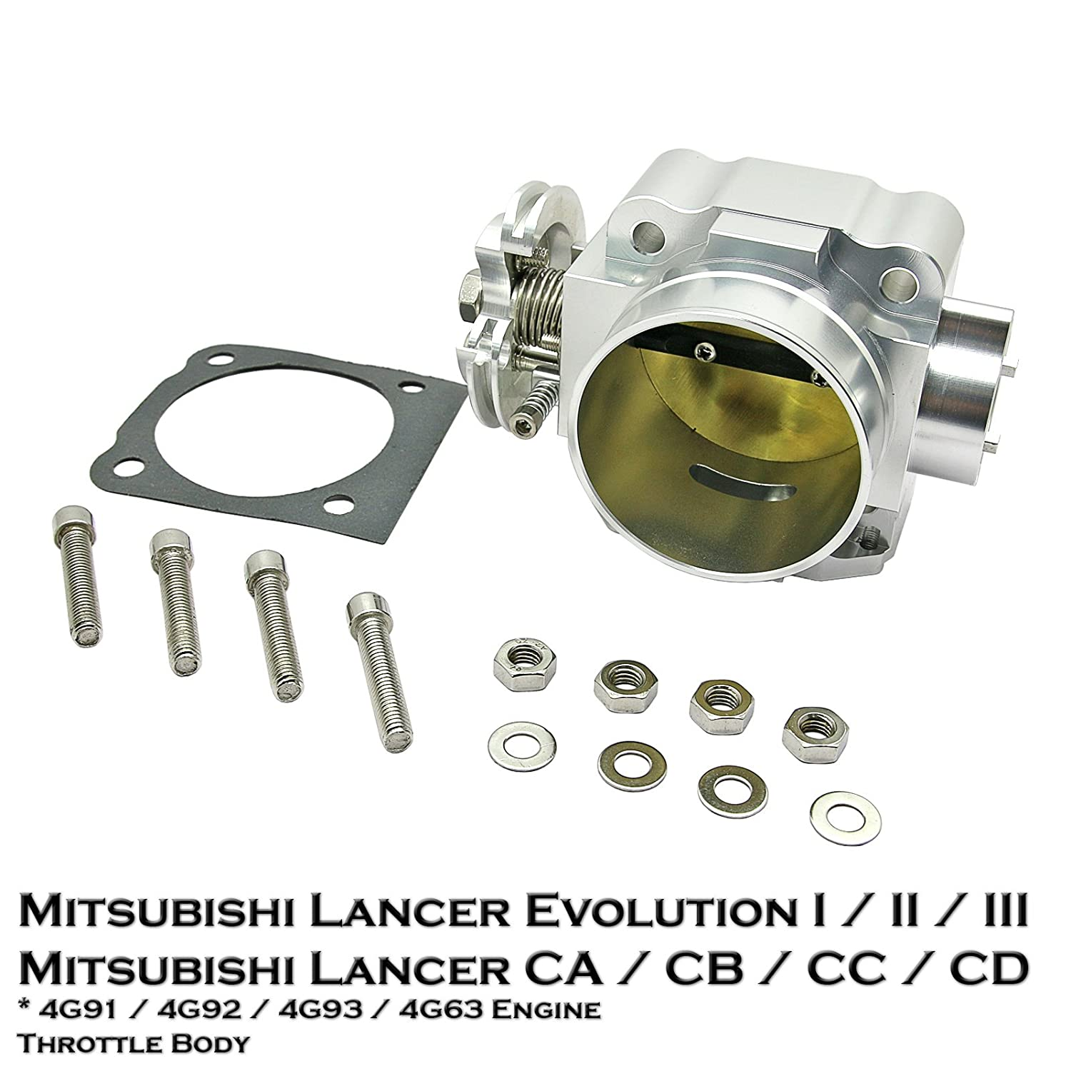 Amazon.com: 70mm Aluminium Throttle Body Fit Mitsubishi Lancer Evolution 1  2 3 Lancer Mirage CA3A CA4A CA5A CB3A CB4A CB5A CC3A CC4A CD3A CD5A 4G91  4G92 ...