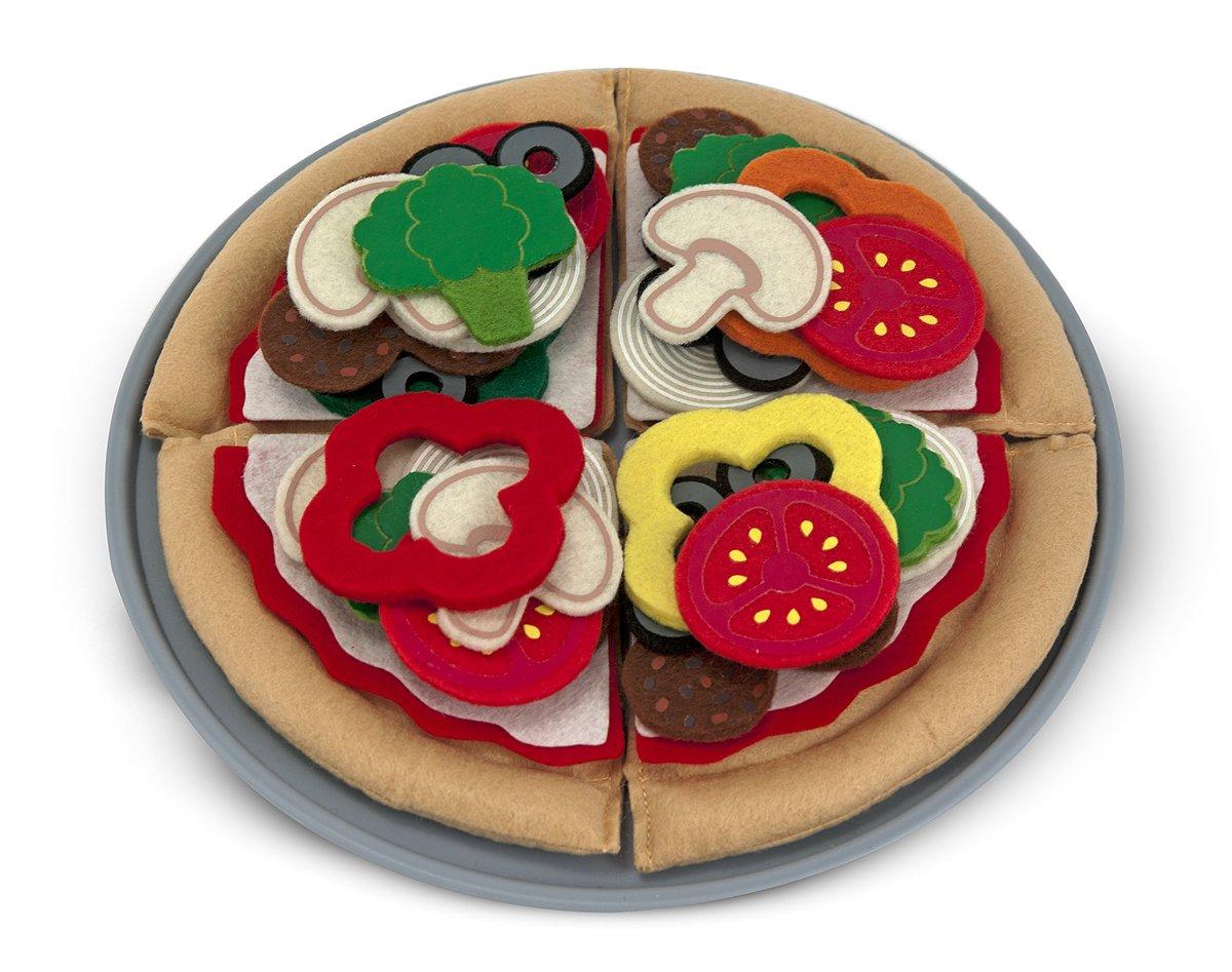 Melissa /& Doug Felt Food Mix n Match Pizza Play Food Set /(40 pcs/) Melissa and Doug 13974