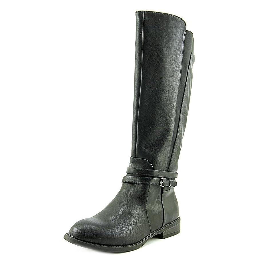 Womens Mazza Almond Toe Mid-Calf Fashion Boots Black Size 7.0