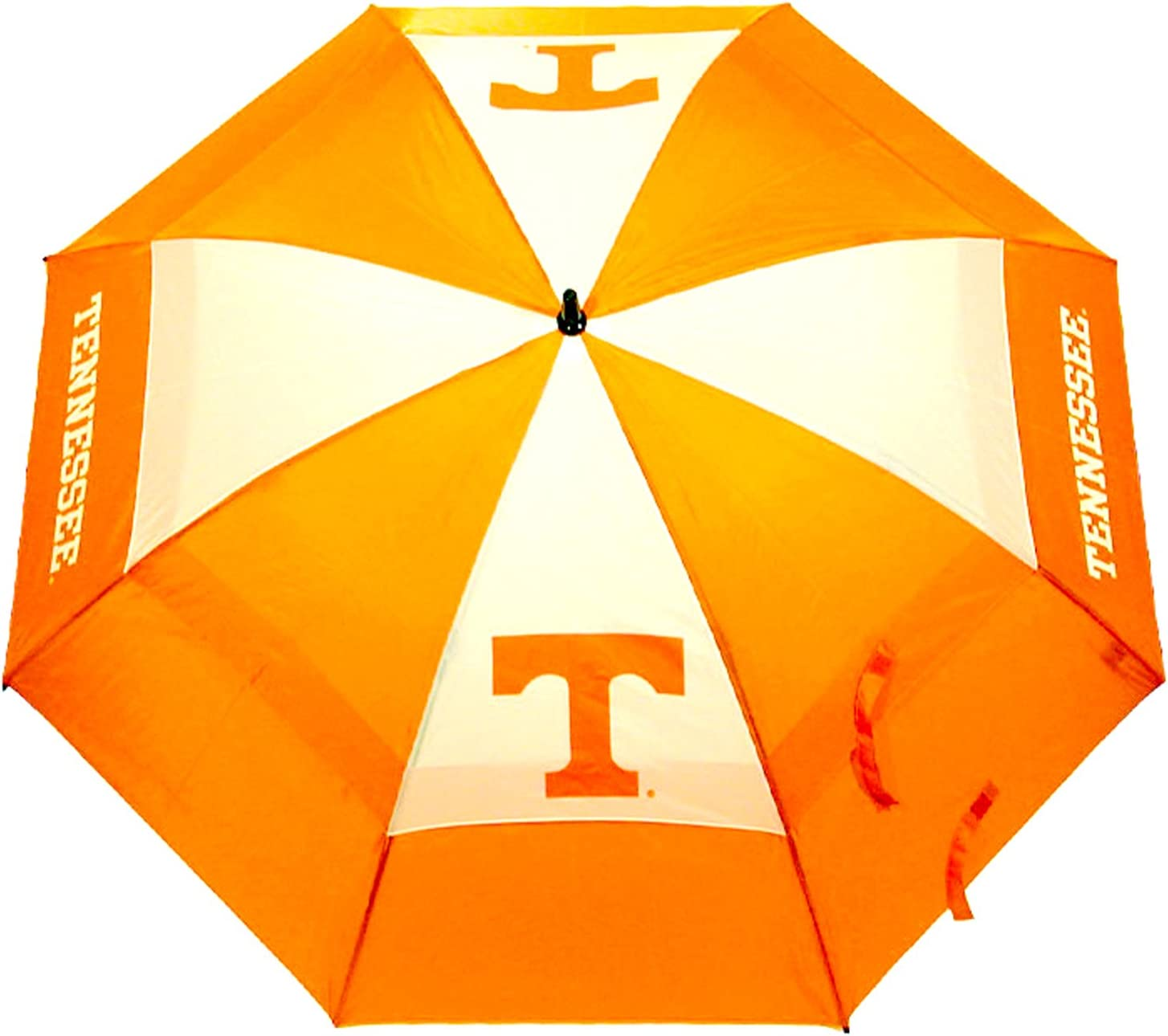 "Team Golf NCAA Tennessee Volunteers 62"" Golf Umbrella with Protective Sheath, Double Canopy Wind Protection Design, Auto Open Button : Tennessee Volunteers Umbrella : Sports & Outdoors"