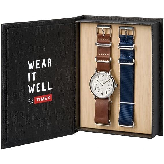 Timex Reloj Analógico-Digital para Unisex Adultos de Cuarzo con Correa en Cuero TWG012500: Amazon.es: Relojes