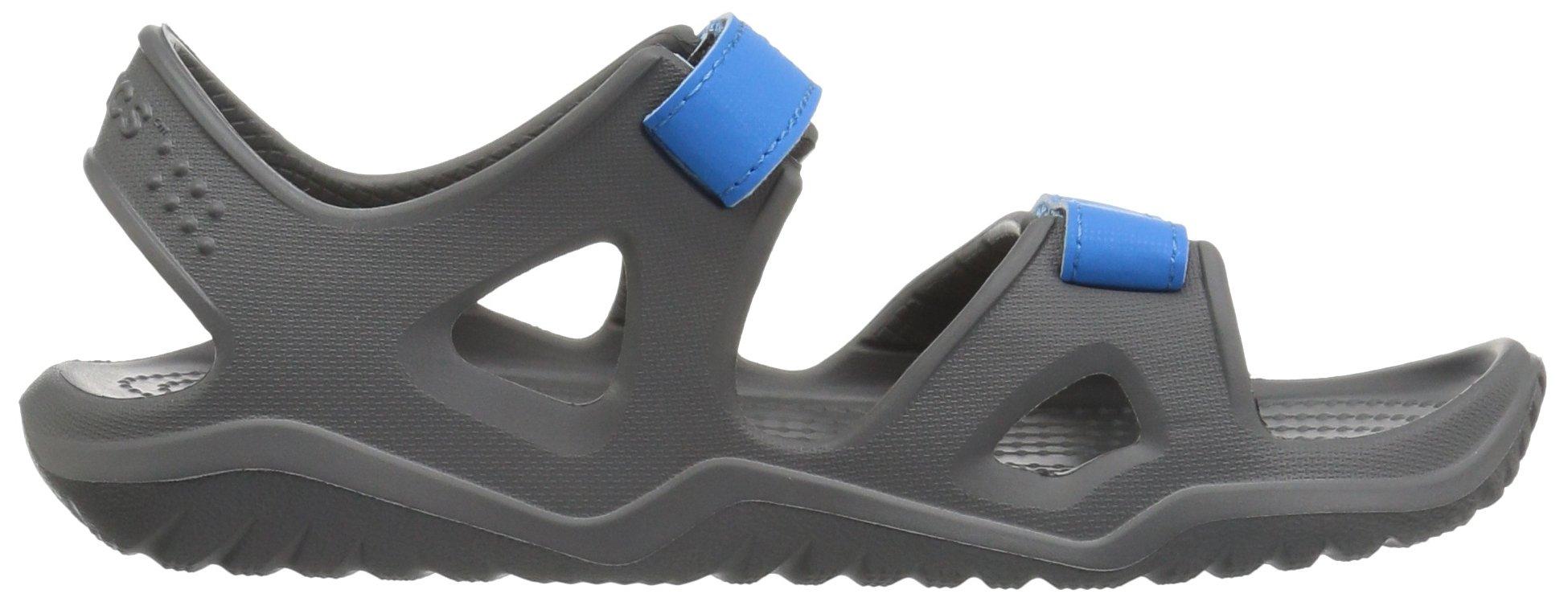 Crocs unisex-kids Swiftwater River Sandal Sandal, Slate Grey/Ocean, 2 M US Little Kid by Crocs (Image #7)