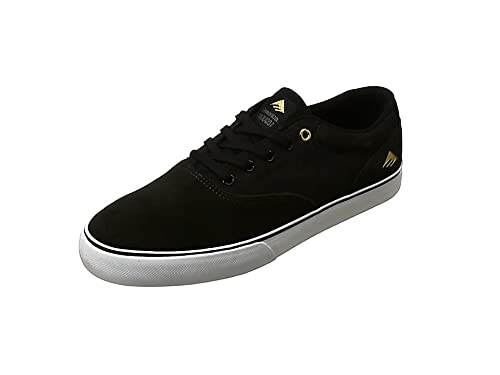 Emerica The Reynolds Low Vulc - Zapatos para Hombre, Color Black/White, Talla 13uk