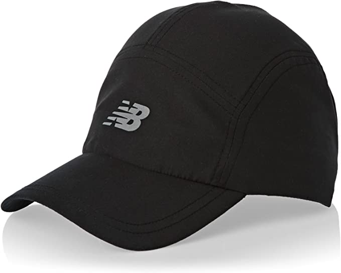 New Balance 5-Panel Core Gorra, Unisex, Negro, Talla única: Amazon ...
