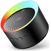 Bluetooth Speaker with Colorful Lights, Axloie Speakers Bluetooth Wireless with Deep Bass and Stereo Sound, 12 Hours…
