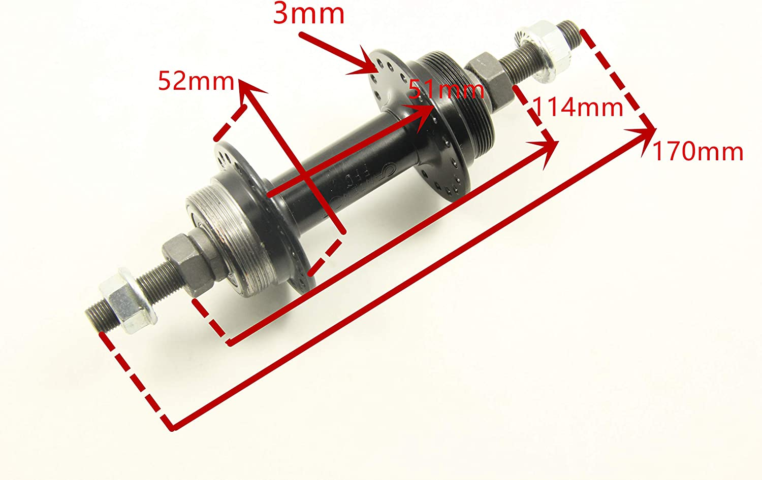 Tandem Bicycle Moped eBike Electric Bike 36 Hole 3//8 Axle transformparts Rear Hub Double Threaded