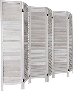 GLSLAND 6 Panel Wood Room Divider 5.6 Ft Tall 16