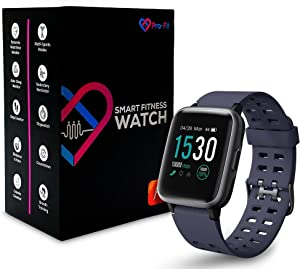 Pro-Fit Inspire Very Fit Pro Smart Watch Activity Fitness Tracker IP68 Waterproof Heart Rate Sleep Monitor Compatible with iPhone & Android Calorie Step Counter Pedometer for Men Women (ID205) (Blue)