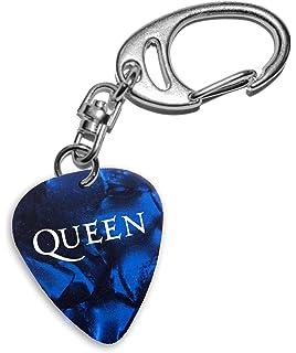 Queen Band Logo Blue Keyring Llavero de púa de guitarra (H)