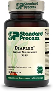 Standard Process Diaplex - Whole Food Bowel, Pancreas, Metabolism, Antioxidant, Gallbladder Support and Blood Sugar Support with Pepsin, Betaine Hydrochloride, Soy Protein -150 Capsules