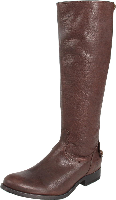 FRYE Women's Melissa Button Back-Zip Boot B004HVKF12 7.5 B(M) US|Dark Brown Antique Soft Full Grain-76430