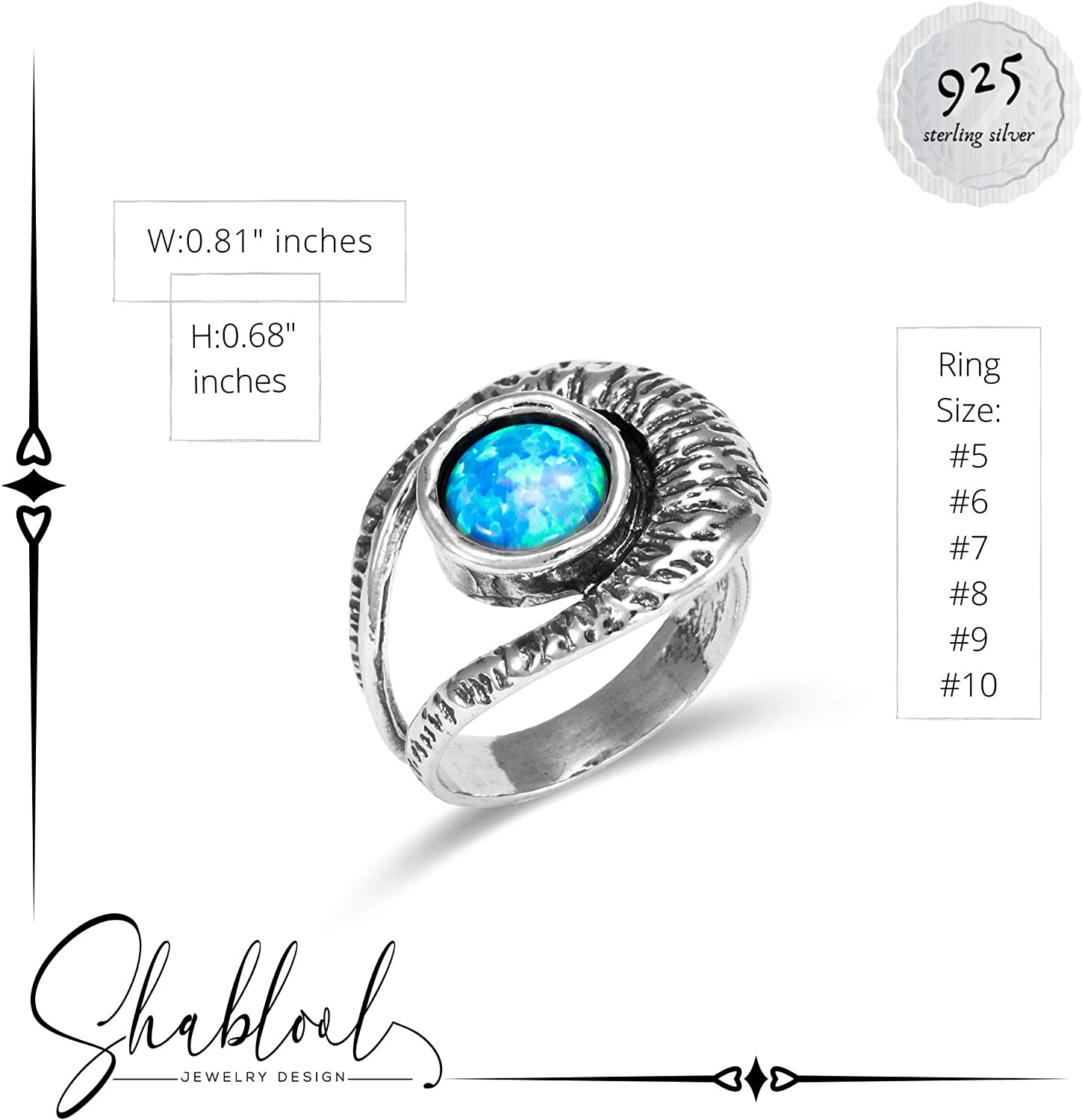Details about  /New SHABLOOL Ring Unique Jewelry Lady Women 925 Sterling Silver Cut