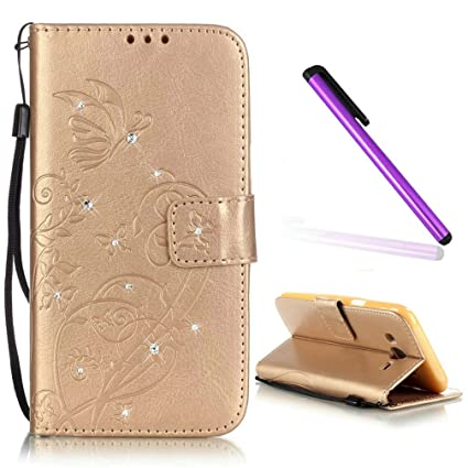 best sneakers d7581 d31d6 Samsung Galaxy J1 Ace Case EMAXELER Stylish Wallet Case Kickstand Flip Case  Credit Cards Slot Cash Pockets PU Leather Flip Wallet Case with Stand For  ...