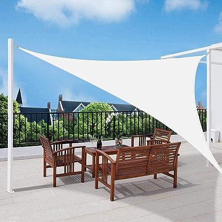 Velo De Sombra Impermeable Triangular, 95% Anti UV UV Pergola Car Shelter para Patio Al Aire Libre, Jardín, Invernadero, Terraza Y Lona De Sombra para Acampar,WHITE-3X4X5m: Amazon.es: Hogar