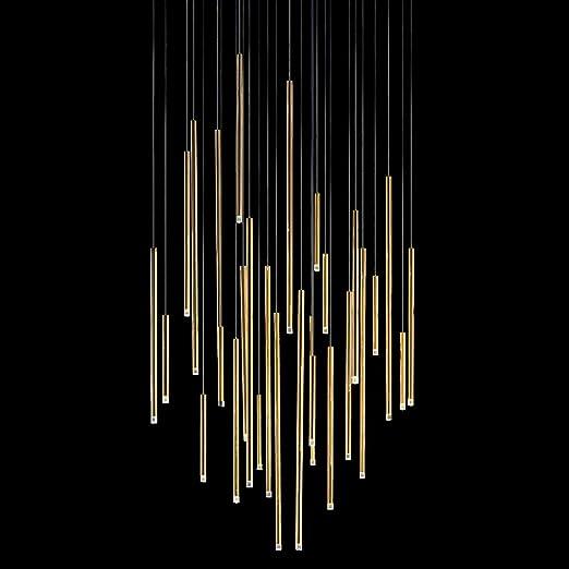 Studio Italia iluminación de a de tubo en oro | hecho a mano ...