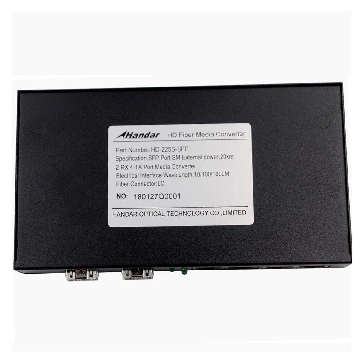 Handar Gigabit Ethernet Media Converter Open SFP Slot, Unmanaged Gigabit Ethernet Switch 4 Ports 10/100/1000 UTP 2 SFP Open Slot, Without Transceiver by Handar (Image #4)