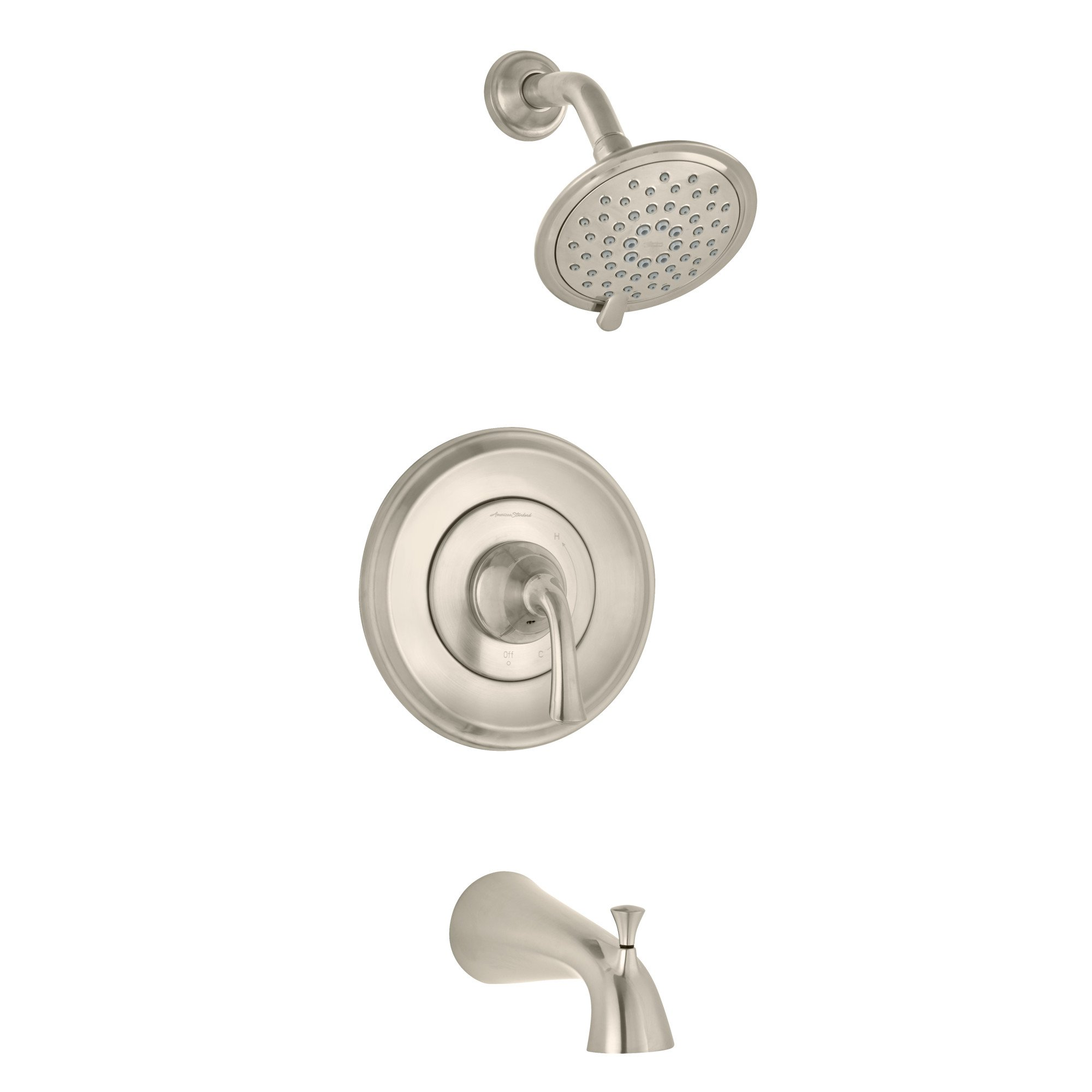 American Standard T106502.295 Romantic Patience PB Bath/Shower Trim BN, Brushed Nickel by American Standard