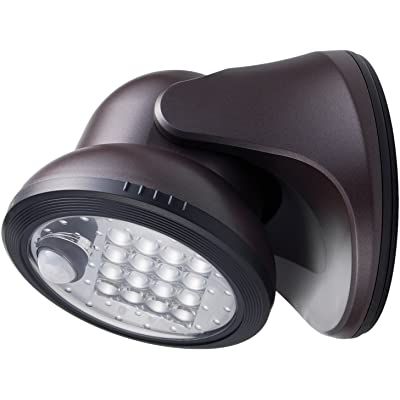 LIGHT IT! By Fulcrum, 16-LED Motion Sensor Security Light, Battery Operated, Bronze