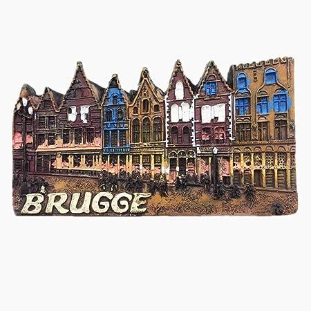 d/écoration de Cuisine et Maison MUYU Magnet Aimant de r/éfrig/érateur 3D Brugge Belgique pour Voyage Souvenir de Maison