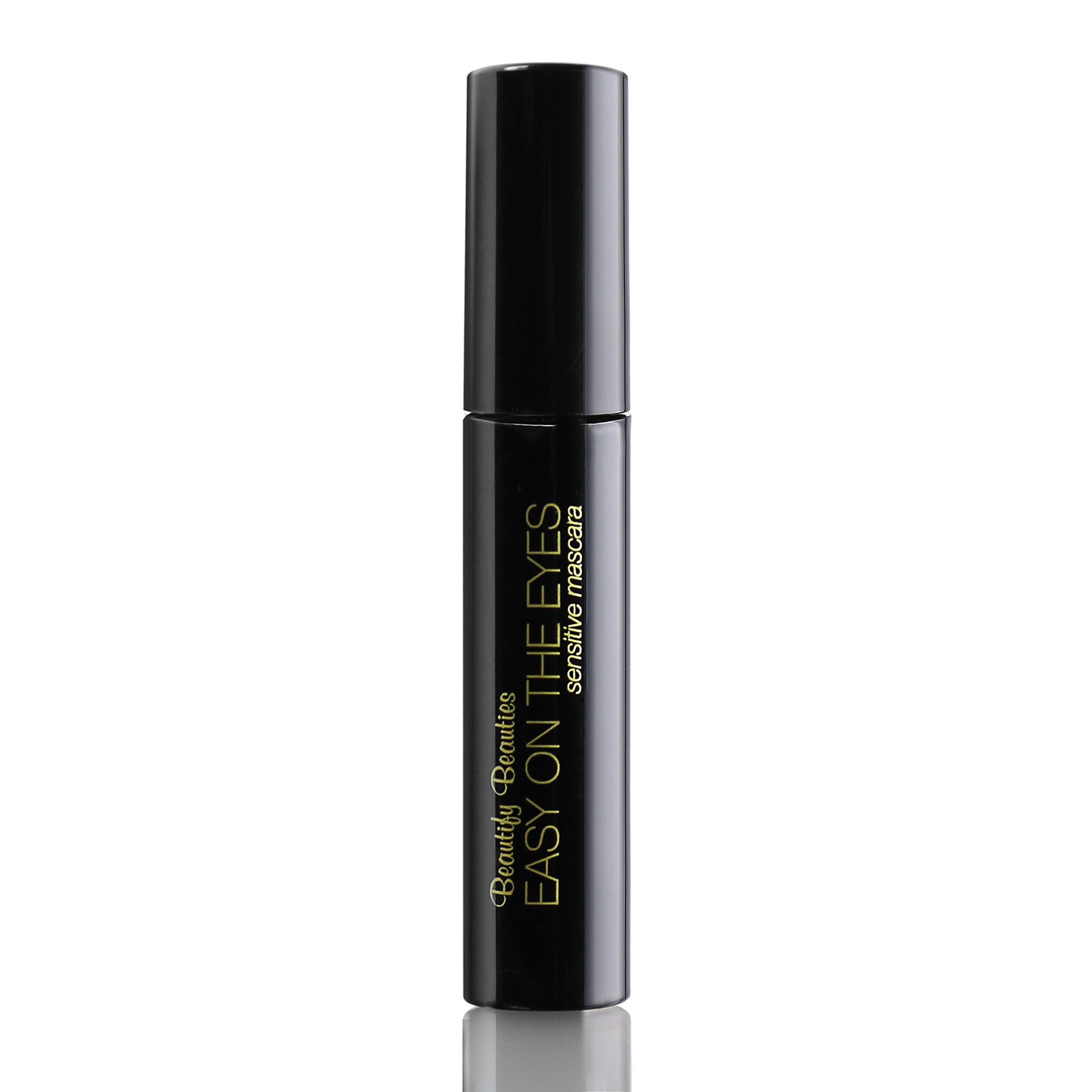 EASY ON THE EYES Sensitive Eye Mascara, Black (0.35 oz) By Beautify Beauties. Gives You Natural Looking Lashes. Non irritating, Great for Sensitive Eyes, Fragrance-free