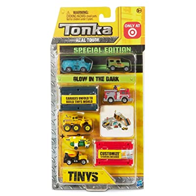 Tonka Tinys 6 Pack. Glow in The Dark. Build Your Tinys World!. Mix 5: Toys & Games