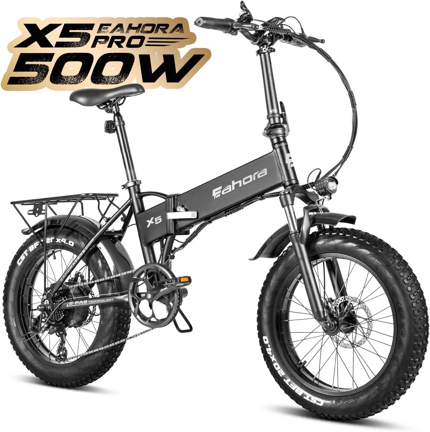 Eahora 500W 4.0 Fat Tire Electric Bike